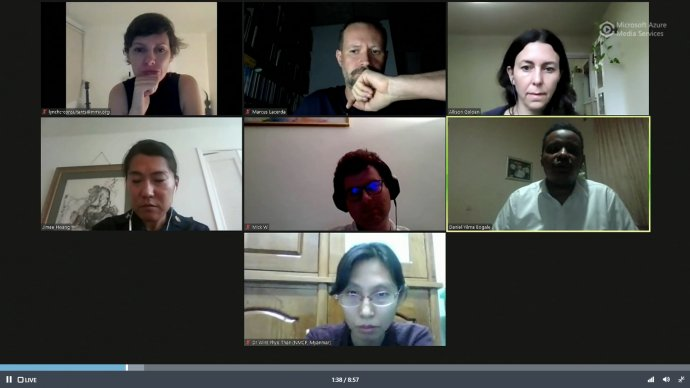 Webinar participants on screen
