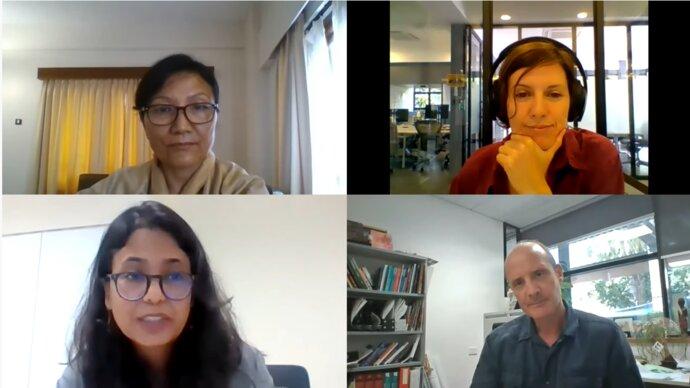 Webinar participants on screen