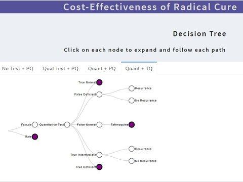 screenshot of cost effectiveness tool